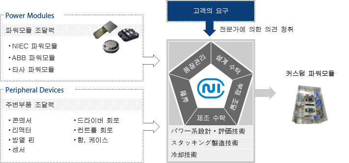 Power Modules, Peripheral Decices, 고객의 요구에 따른 커스텀 파워모듈