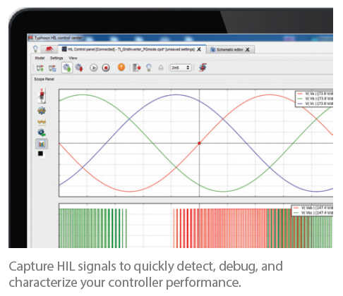 Capture HIL signals to quickly detect, debug, and characterize your controller performance.