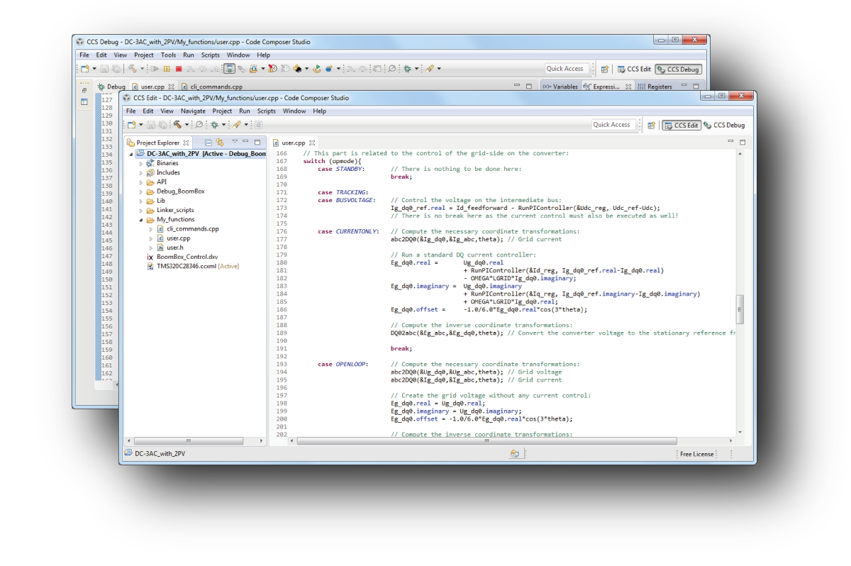 Code Composer Studio, IDE for C and C++ programming