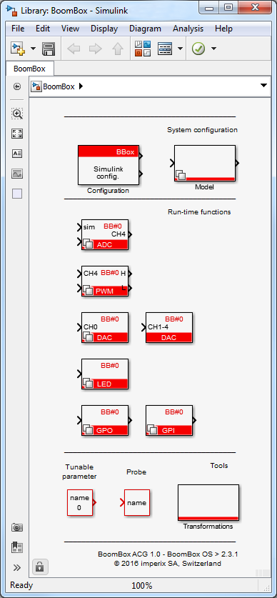BoomBox blockset for Simulink