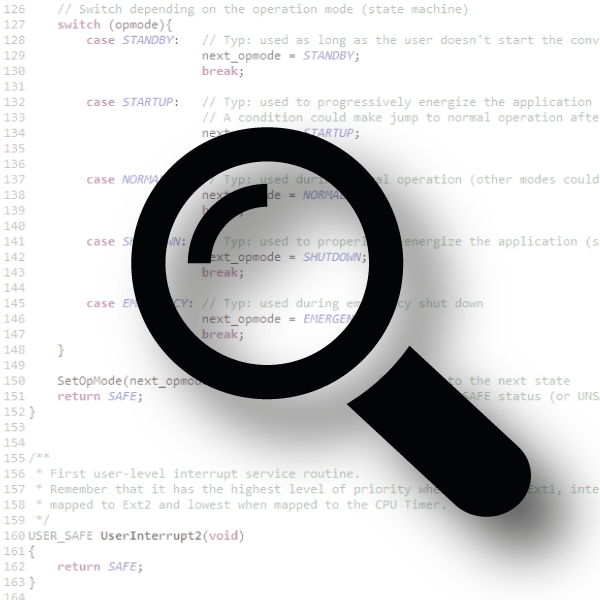 Embedde code parser