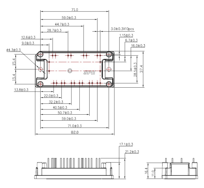 S4 – 38mm – IGBT/MOSFET Drawing