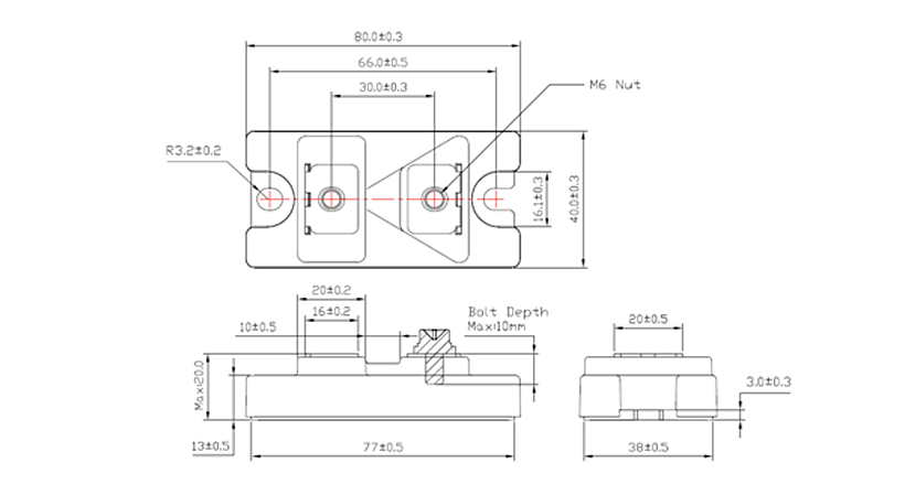 ST – 40mm – Fast Recovery Diode Drawing
